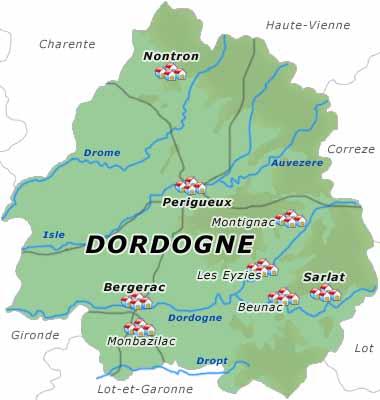 dordogne karte Ferienwohnung Dordogne   Urlaub in Dordogne, Frankreich